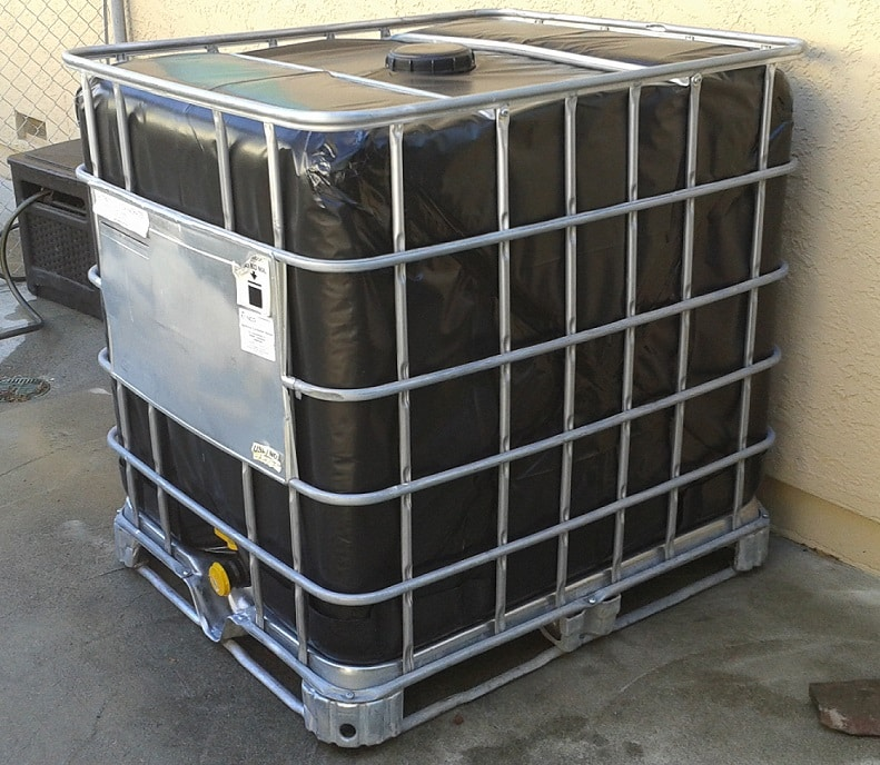 A 275 gallon water tote.