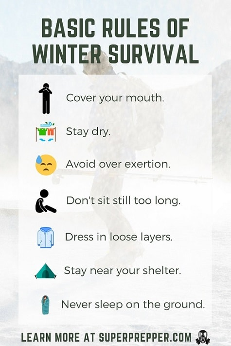 Basic rules of winter survival.