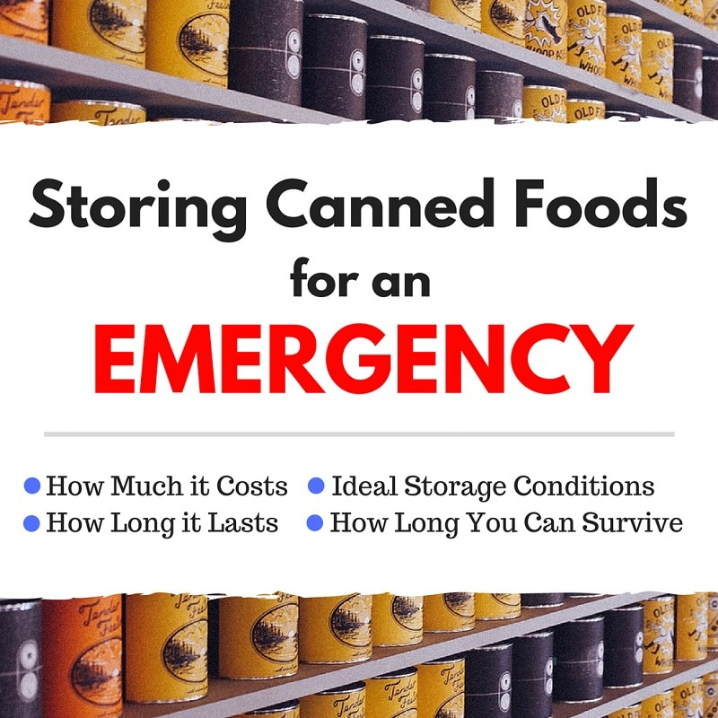 Storing Canned Foods for an Emergency