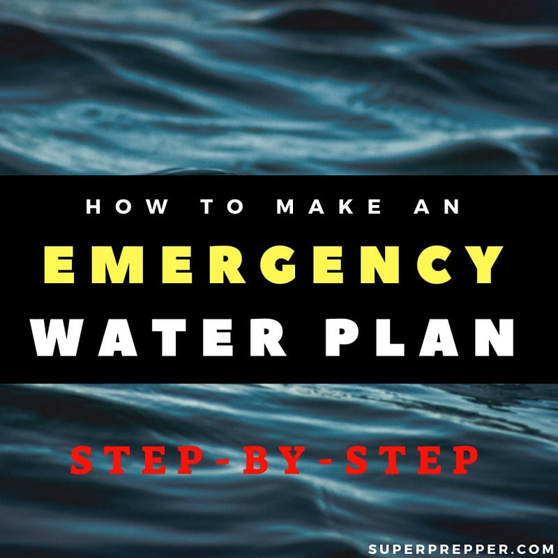 Emergency Water Plan Step by Step
