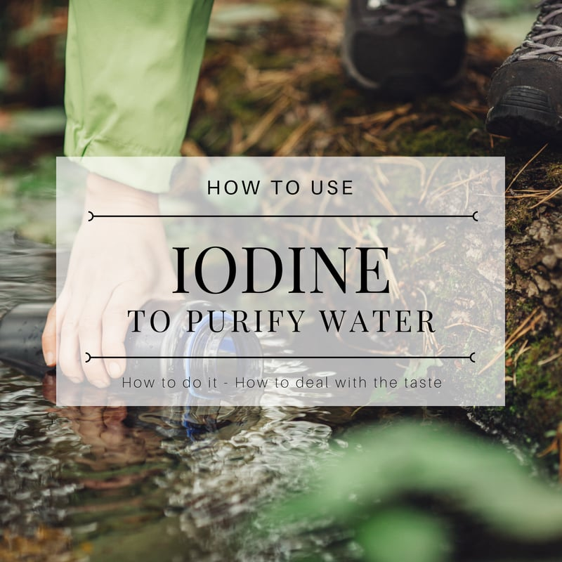 How to Use Iodine to Purify Water for Drinking Title