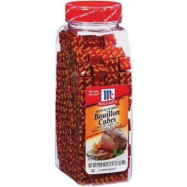 Beef bullion cubes for sale at your local market.