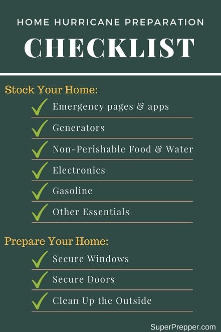 Hurricane Preperation Checklist