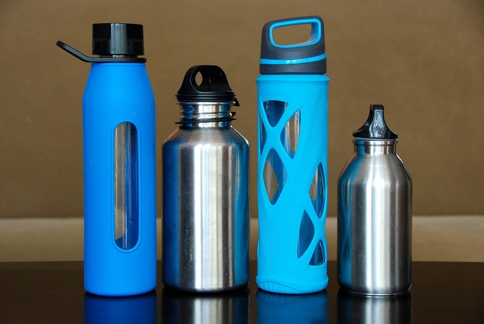 Glass and stainless steel water bottles mean there's no expiration on the water they contain.