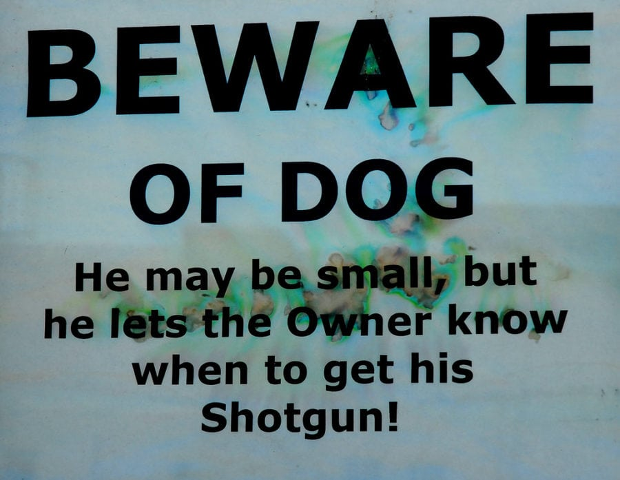 home security tips - create the illusion of a scary dog
