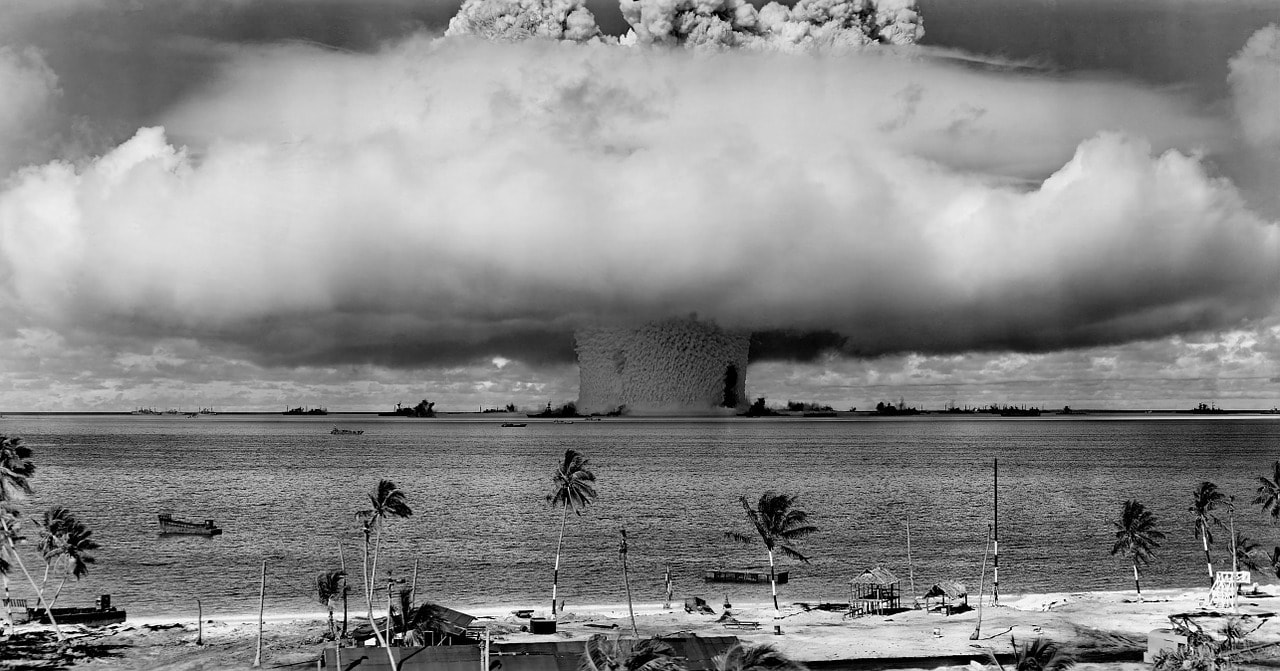 The 1946 nuclear test known as Operation Crossroads.