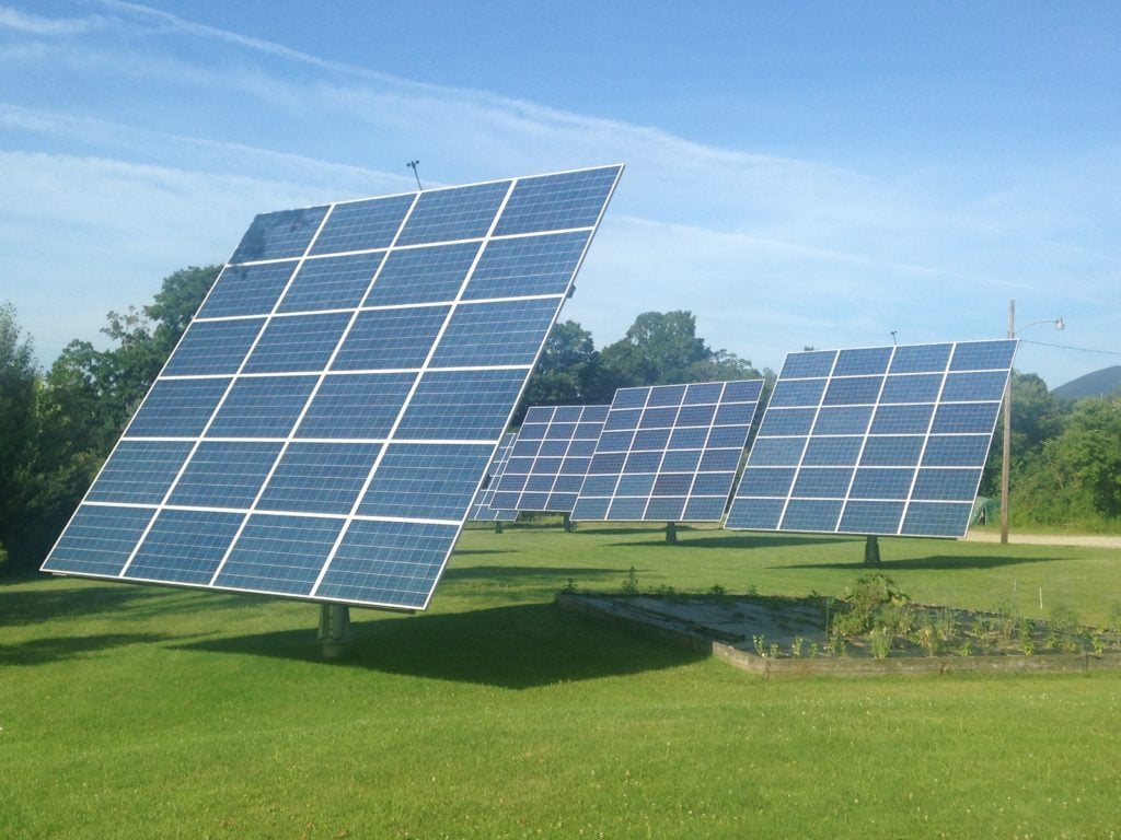 solar panels survive an EMP - solar panels in field