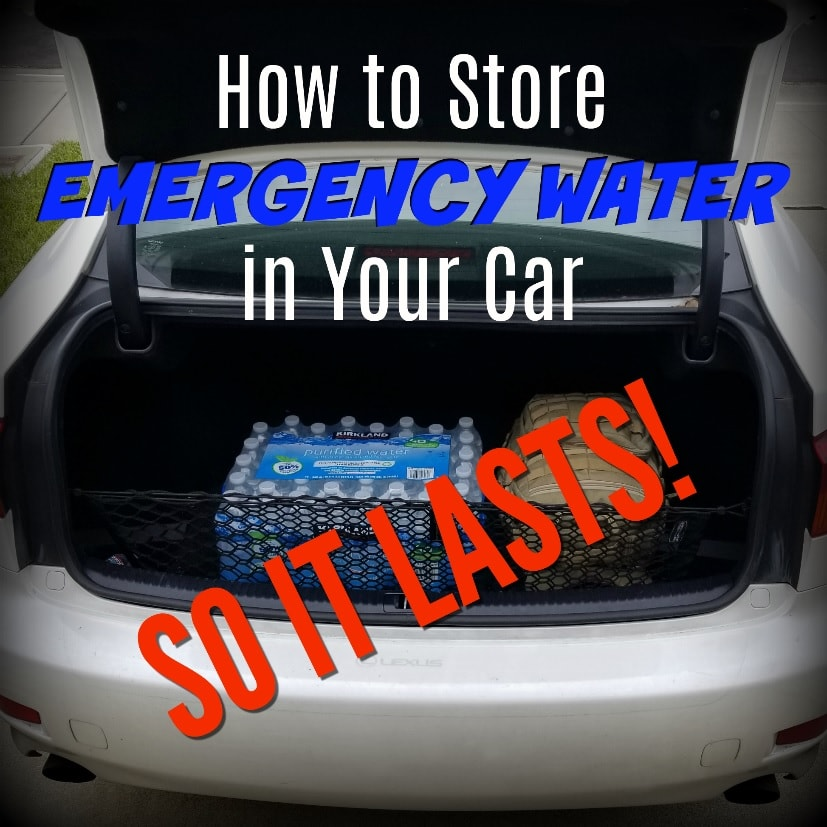 How to Store Emergency Water in Your Car so It Lasts