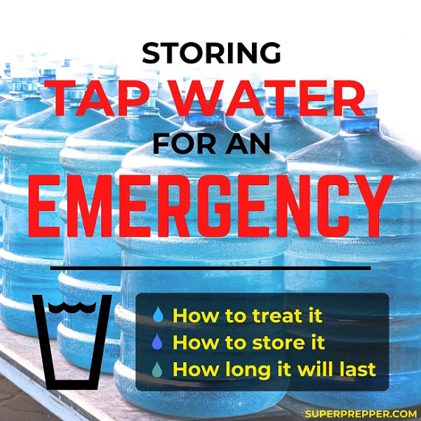 Storing Tap Water for an Emergency