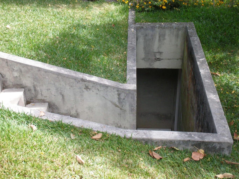 A backyard fallout shelter.